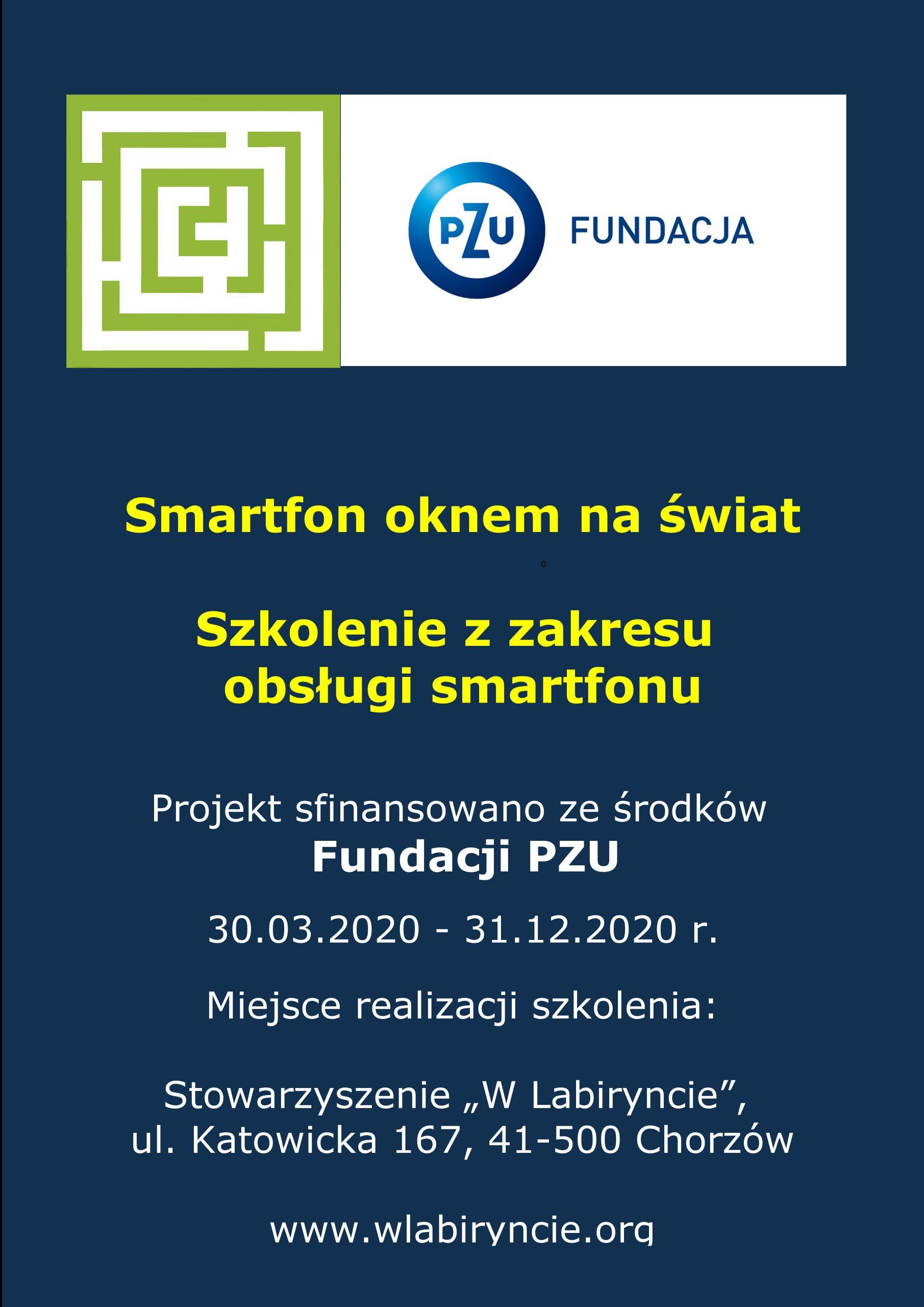 """Plakat promujący szkolenie """"Smartfon oknem na świat"""""""